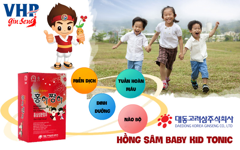 tác dụng của hồng sâm baby kid tonic