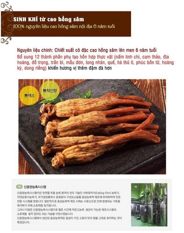 Công dụng của cao hồng sâm lên men Daedong Hàn Quốc